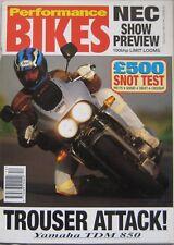 Performance Bikes magazine December 1992 featuring Yamaha