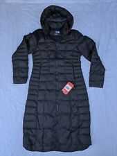 The North Face Triple C II Womens M Long Down Puffer Parka Jacket Black NEW
