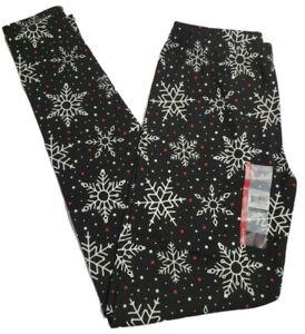 No Boundaries Juniors Snowflake/Holiday/Christmas Ankle Leggings, S/Small (3-5)