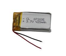 3.7V 420 mAh Polymer Li Lithium Cells For Mp3 GPS sat Nav Bluetooth pen  702035