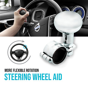 Lunsom ABS Plastic Steering Spinner Quick Release Suicide Knob Vehicle Wheel Turning Booster fit Most Auto Manual Car Silver