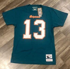 Miami Dolphins Mitchell & Ness Dan Marino 13 T Shirt Jersey NFL Throwback Sz Med