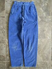 Vtg Hearts Jeans Corduroy Pants 7 22x28 Blue Tapered Leg High Waist Hipster Mom