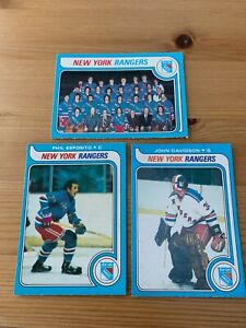 1979/80 O-Pee-Chee NY Rangers Team set (18 cards inc/ Don Maloney RC)