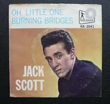 """7"""" Jack Scott - Oh, Little One - USA Top Rank Picture Sleeve Only!"""