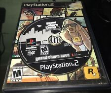 Grand Theft Auto San Andreas GTA Sony PlayStation 2 PS2 Works Great Complete!