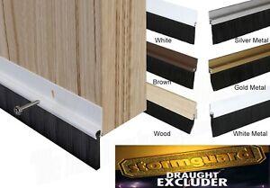 Door Draught Excluder Brush Strip Bar 25 mm Stormguard Heat Seal Energy Savings