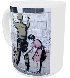 Banksy Girl Searching Soldier  Ceramic Mug (se)
