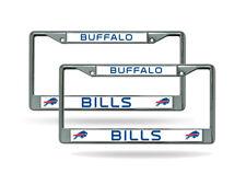 Buffalo Bills (SET OF 2) Chrome Metal License Plate Frames FREE US Ship
