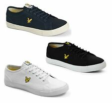 Lyle & Scott Canvas Teviot Twill Fashion Plimsolls Shoes Yellow Eagle Trainers