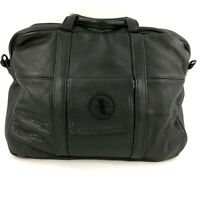 Soft Black Leather Briefcase Attache Bag Business Supple Unbranded Mexico-Made