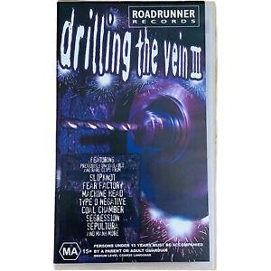 Drilling The Vein 3 VHS Slipknot-Coal Chamber-Sepultura-Type O Negative 2000