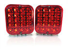 (2) Trailer Truck Red LED Surface Mount 5