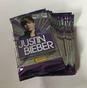 PANINI 2010 JUSTIN BIEBER TRADING CARDS LOT OF 24 PACKS DRAKE NEW & SEALED