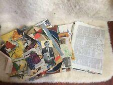 Lot of vintage 1940's Ephemera. magazine cut outs. Nostalgia!