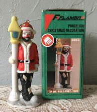 Emmett Kelly Jr. Christmas Ornament Porcelain Clown 9654 In Box Flambro Lamppost