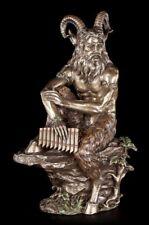 Sartén Figura Grande - de piedra Sentado Con Flauta - Sátiro Estatua Veronese