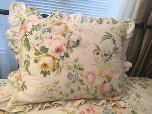 Ralph Lauren Home Lake Twin Floral Lace Ruffled Duvet Cover/Sham Set EUC 2 Avail