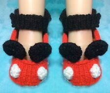 KNITTING PATTERN - Mickey Mouse inspired booties fit 3 - 9 month old Baby