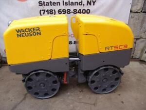 2016 Wacker Neuson RTSC3 Vibratory Remote Controlled Trench Roller 504 Hours