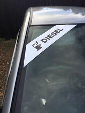 car sales diesel corner logo slogen flash stickers x10