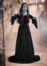 """5ft Standing Gothic Woman Vampire Bride Halloween Prop w/ Red Lighted Eyes 60""""H"""