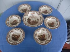 vintage johnson bros  old Britain castle 7 piece sweet bowl dessert set british