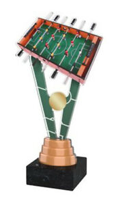 EXCLUSIVE TABLE FOOTBALL TROPHY 150mm, FREE ENGRAVING, 2 SIZES TROPHIES AWARDS