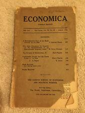 Economica The London School of Economics Vol 15 No 43 1944 May 24th year