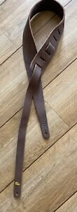 Liam's Soft Leather  2.5 Inch Wide Guitar Strap Brown