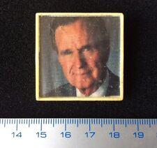 Rare Pin UNDERGROUND Samizdat George Bush MADE IN USSR RUSSIA Vintage Badge.