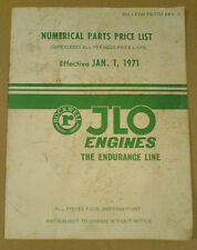 Rockwell Jlo Engines Parts And Price List Catalog Dated 1971
