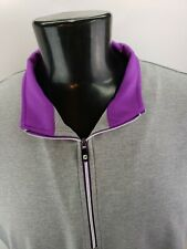 Men's FootJoy FJ 1/4 Zip Lightweight Breathable Vest XL Gray Purple Trim