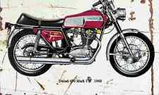 Ducati 450 Mark3D 1968 Aged Vintage SIGN A4 Retro