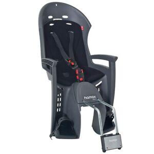 NEW - Hamax Smiley Child Bike Seat - Grey/Black - FREE INT SHIPPING