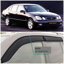 LE21097 Window Visors Sun Guard Vent Wide Deflectors For Lexus GS II  1997 2004 (Fits: 1999 Lexus GS300)