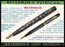 PUBBLICITA' PENNA STILOGRAFICA MATITA WATERMAN MODELLO LADY PATRICIA LUSSO 1931