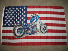 3x5 USA Bike Motorcycle Motor Cycle Chopper SuperPoly 3'x5' Flag Banner