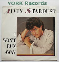 "ALVIN STARDUST - I Won't Run Away - Excellent Con 7"" Single Chrysalis CHS 2829"