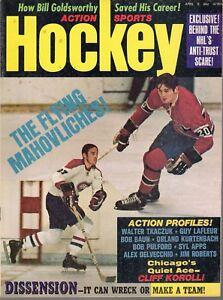 1972 (Apr.) Action Sports Hockey Magazine, Frank & Pete Mahovlich , Canadiens~VG