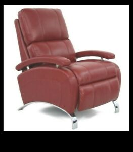 Barcalounger Pegasus Red Leather Recliner Chair