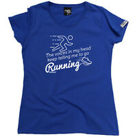 Running Tops T-Shirt Funny Novelty Womens tee TShirt - The Voices In My Head Kee