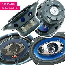 4x Gravity GR-6996H 6x9 inch 4-Way 760 Watt Coaxial Car Audio Speakers CEA Rated