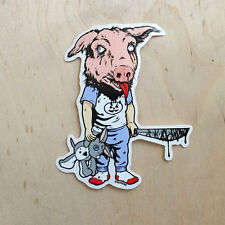 Supreme vinyl sticker decal skateboard laptop Sean Cliver pig boy head knife SK8