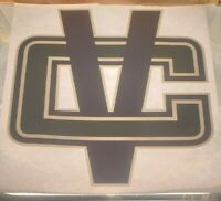 """Vancouver Canucks V in C Logo Iron On Heat Transfer Colored NO Glitter 8x9"""" NHL"""
