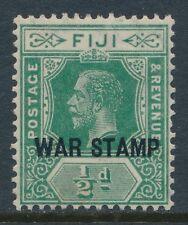 1915 FIJI ½d GREEN MINT MLH SG138 WAR STAMP
