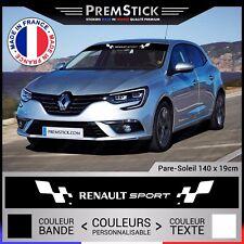 Sticker Pare Soleil Renault Sport - Autocollant Voiture, Stickers Racing, ref5