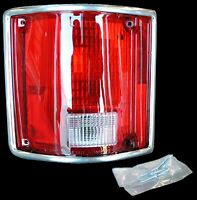 78-87 Chevy Pickup Rear Taillamp Unit with Chrome Trim Driver Side