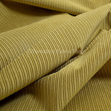 10 Metres Of Thin Soft Pin Striped Corduroy Sofa Upholstery Fabric Yellow Colour