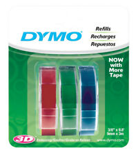 Dymo 1741671 Red Green And Blue Caption Maker Tape Refill 38 W In X 98 L Ft